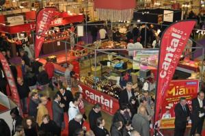 Le stand du Cantal propose entre autres les 5 AOP fromages d'Auvergne